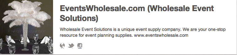 EventsWholesale.com on Pinterest