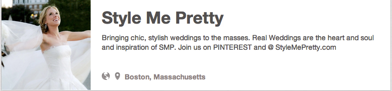 Style Me Pretty on Pinterest