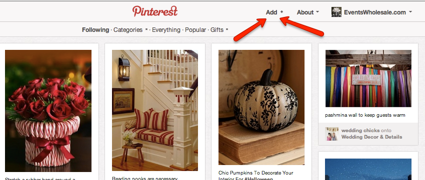 Pinterest Add Button
