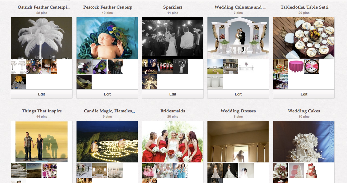 EventsWholesale Pinterest categories