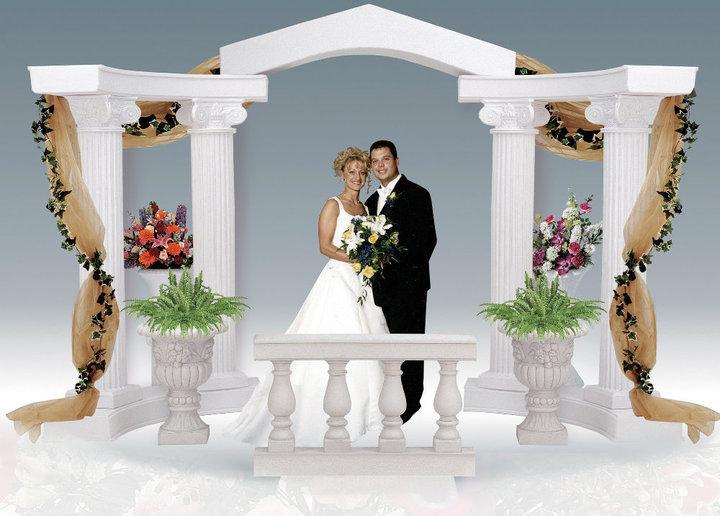 Classic Graeco-Roman Style Colonnade Arch