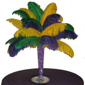 Mardi Gras Ostrich Feather Centerpiece