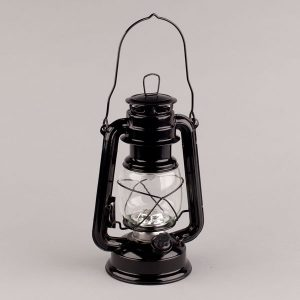 Black Hurricane LED Lantern