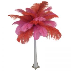 Valentine's Day Feather Centerpiece