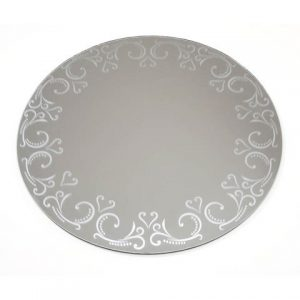 Patterned Round Mirror